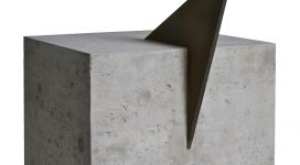 Mauro Staccioli, Senza titolo, 1974-82, concrete and iron, 57,5x40x40 cm